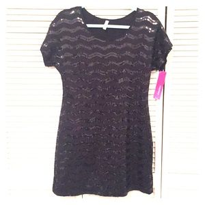 NWT Black Sequin Dress
